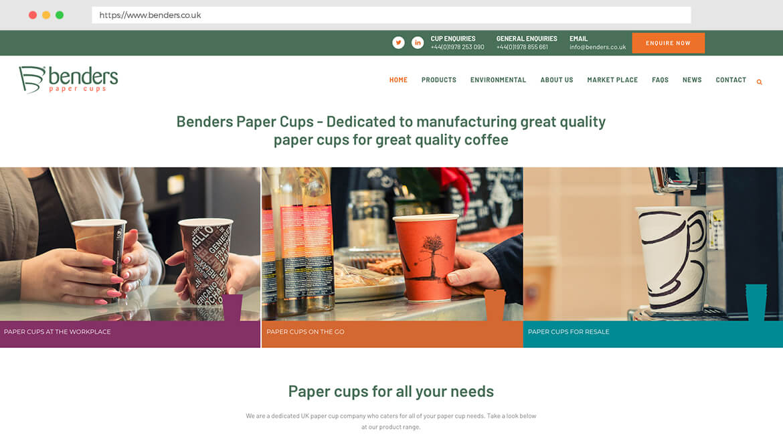 Benders Paper Cups - Wahoo Group